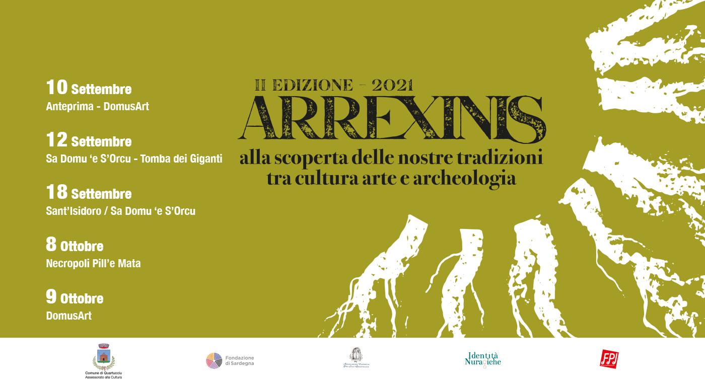 Arrexinis | Settembre - Ottobre 2021 | Musica, archeologia - Quartucciu Cagliari Sardegna